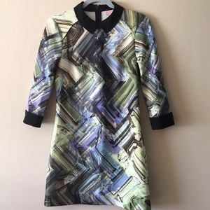 Ted Baker Abstract Art Design Dress Size 2